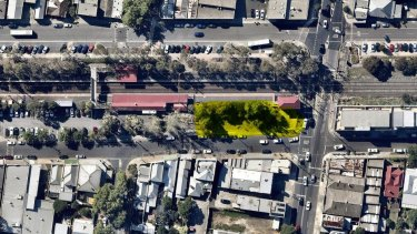 A map of the site in Fairfield earmarked for a green development known as Nightingale 2.0.