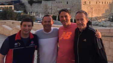 Tony Abbott recently attended the Australia-Israel-UK Leadership Dialogue. Labor's Bill Shorten and Richard Marles, and Victorian state MP Tim Smith, were also on the trip.