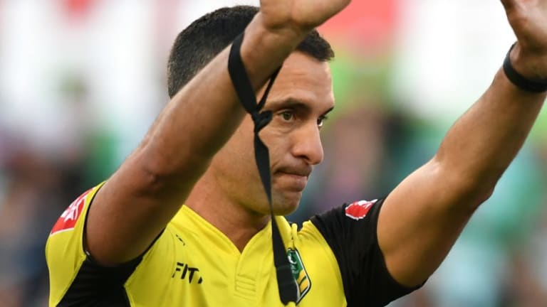 Unpopular: Matt Cecchin earned the ire of Tonga with his call to deny Andrew Fifita a late try against England.