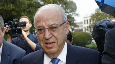 Eddie Obeid before he was taken into custody on Thursday.