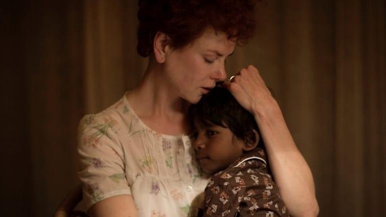 Nicole Kidman and Sunny Pawar in <i>Lion</i>.