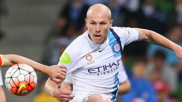 Melbourne City midfielder Aaron Mooy is one of four players from his club featured in the Professional Footballers Australia team of the year.