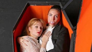 Zoe Boesen and Alexandra Aldrich in Ones Theatre's Dracula.
