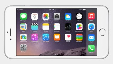 The iPhone 6 Plus can, like the iPad, be used in landscape.