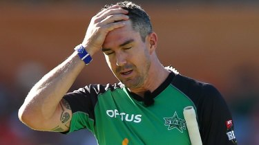 Absolute schocker: Unless he successfully appeals, Kevin Pietersen will have to pay a $5000 fine.