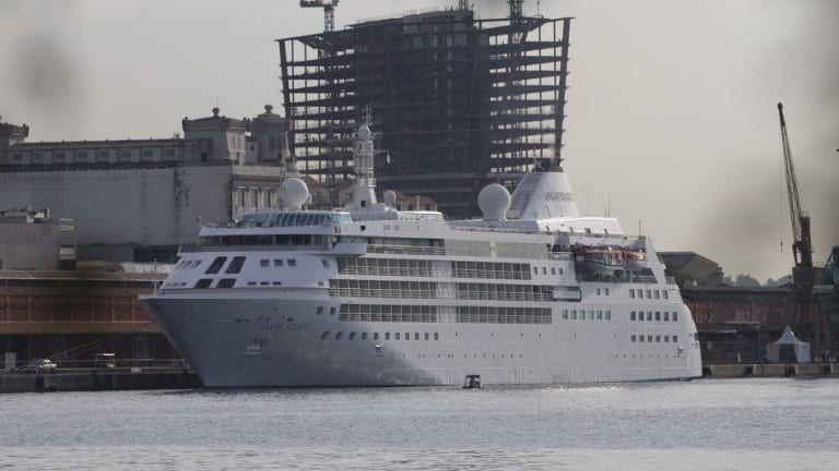 The Silver Cloud anchored in Rio's renovated port this week.