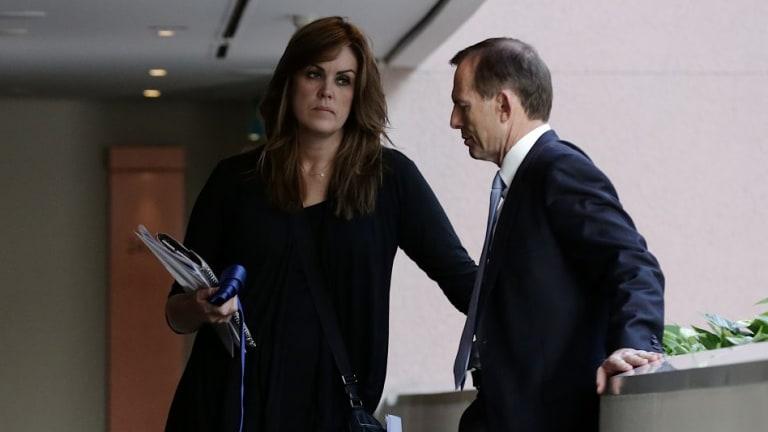Tony Abbott and Peta Credlin before the last election.