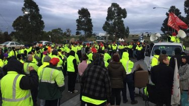 More than 640 workers are on strike.