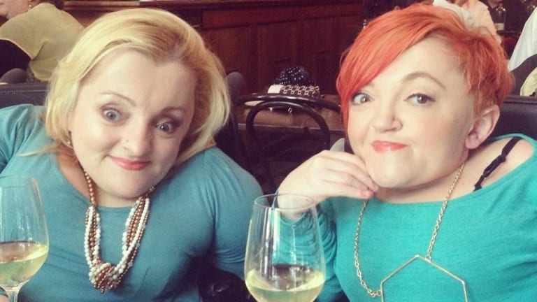 Prue Hawkins and the late Stella Young