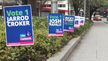 The Like Canberra party signs which upset the Raiders.