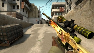 Extremely rare Counter-Strike skins such as this one trade for thousands of dollars.