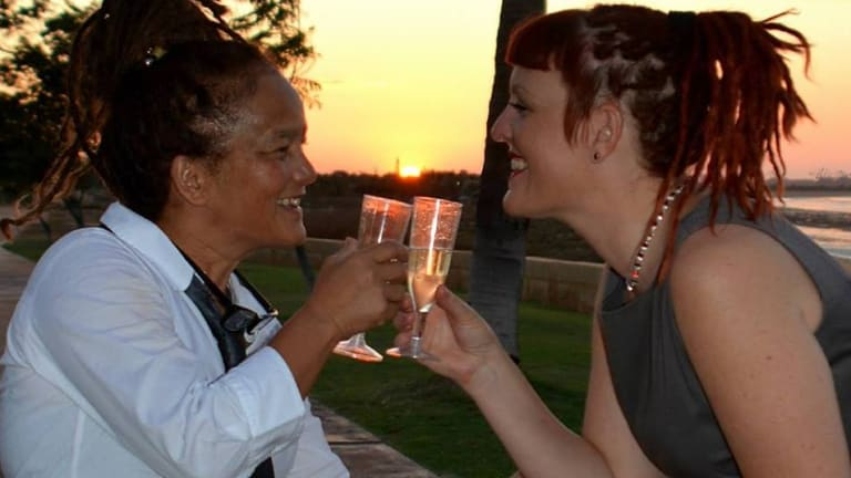 Gloria Jacob and Niki White became the first couple in Port Hedland to declare their relationship on a new same sex union register.