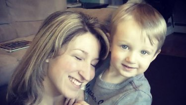 Jaquelyn Collas with Curren, 2, who died after he became trapped under an IKEA dresser.