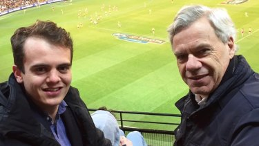 Liberal Party powerbroker Michael Kroger with his controversial protege Marcus Bastiaan.
