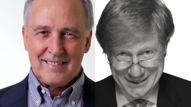 When conversation flies: Former PM Paul Keating and journalist Kerry O'Brien, who sat down in conversation at the Opera House.