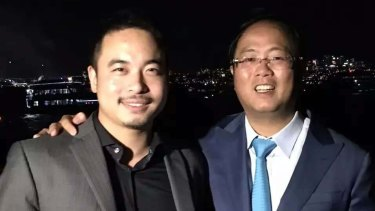 Simon Zhou with controversial Chinese political donor Huang Xiangmo.