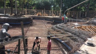 The construction site for the new Mrs Sippy Bali at Seminyak.
