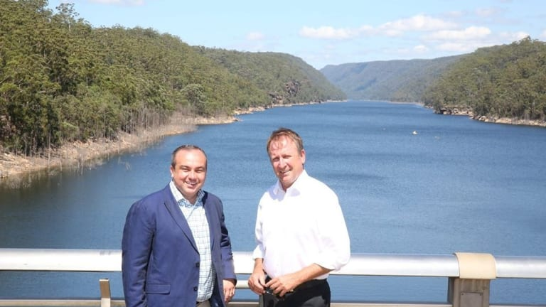 The Warragamba Dam is one of five reservoirs providing water for Sydney.