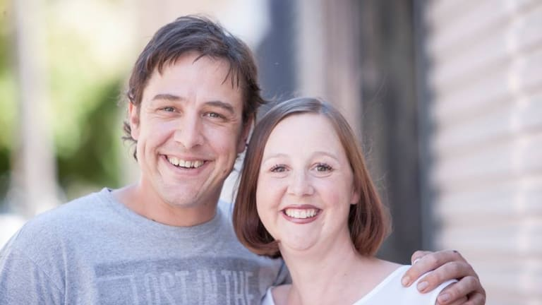Samuel Johnson and his sister Connie, who is battling breast cancer and was in the Canberra Hospital this week receiving more treatment.