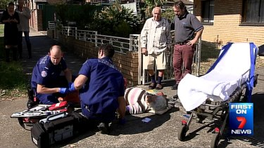 For one woman, a television news crew arrived before a long overdue ambulance.