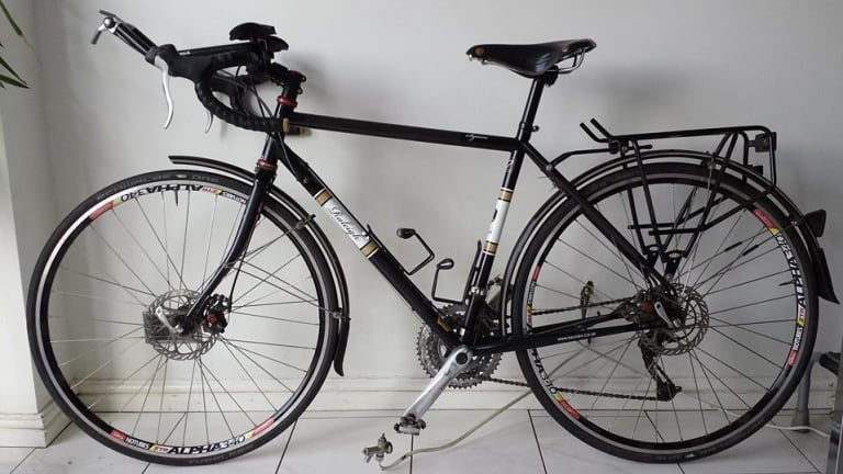 Built for distance: Steven Abraham's bike.