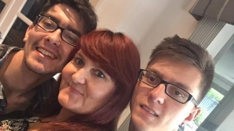 Mrs Strange with her sons Jaxson and Brandyn.