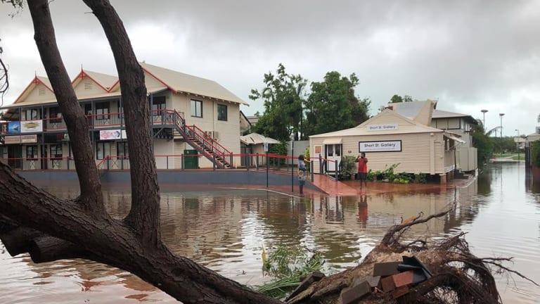 Rain shut down Chinatown in Broome.
