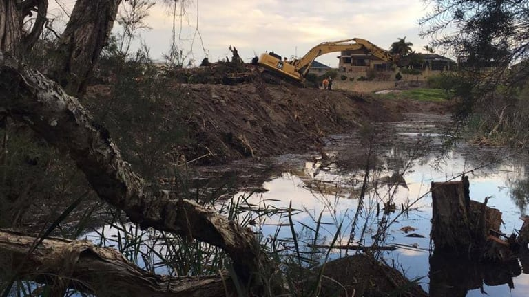 Bulldozing had begun on Carters land before the community realised what was happening.