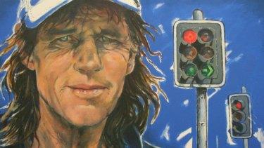 A portrait of Ian Stokes by artist Barbara van der Linden.