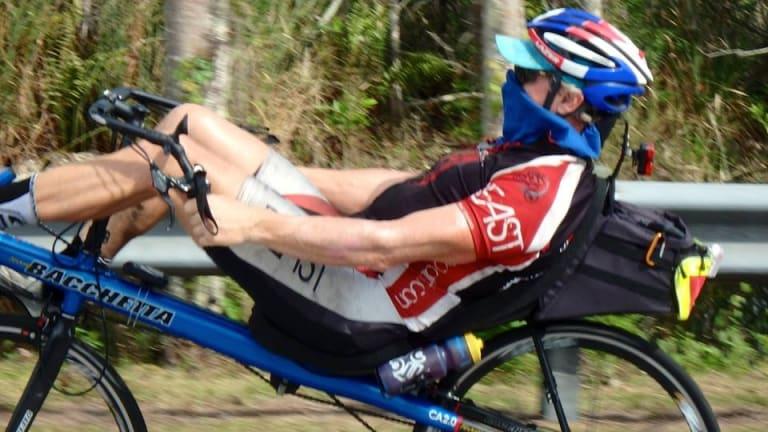 Kurt Searvogel, seen on a recumbent, is doing the biggest distances.