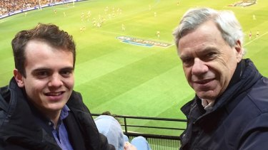 Liberal Party Victorian president Michael Kroger with his controversial protege Marcus Bastiaan.