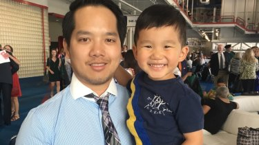 Junior doctor Dr Alan Pham's work hours mean he might see his son for only half an hour a day.