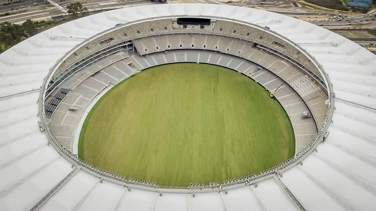Perth Stadium's lightweight roof covers 85% of seating for AFL fans.