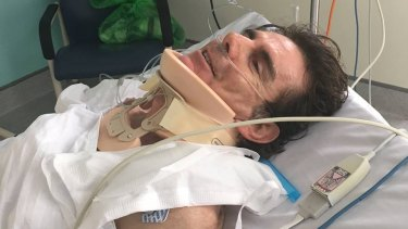 Cyclist Michael Long remains in hospital after the crash on Southern Cross Drive.