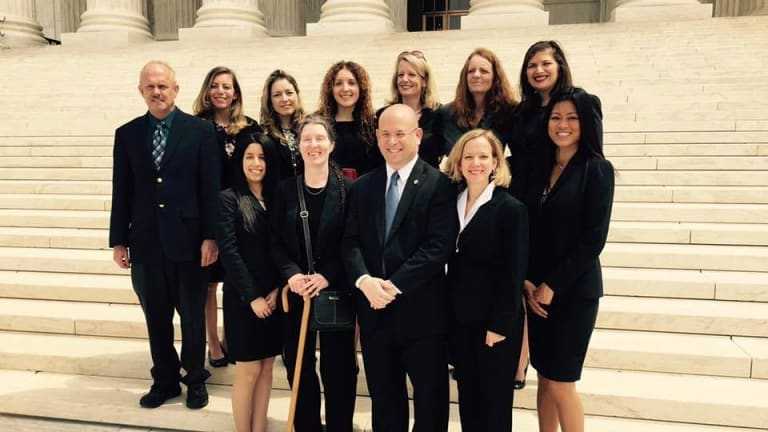 The twelve lawyers who were sworn in.