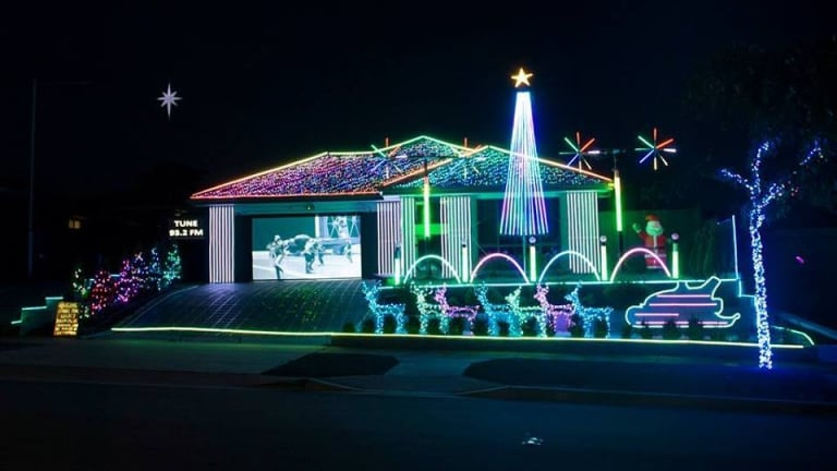 James Petterson's light display in Elia Ware Crescent is raising funds for Legacy Australia.
