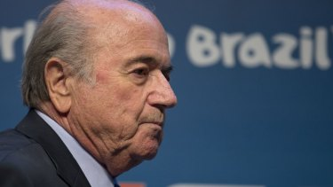 Hitting out: Sepp Blatter accused FIFA's critics of being racist.