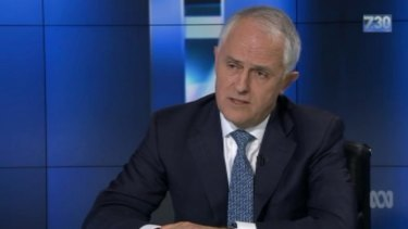 Prime Minister Malcolm Turnbull on ABC's 7.30 with Leigh Sales on Wednesday night.