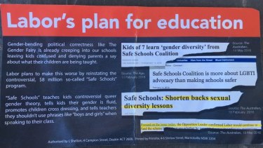 The Australian Christian Lobby election flyer that has been accused of looking like it's from Labor.
