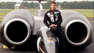Wing Commander Andy Green, the first person to break the sound barrier on land, will test drive the Bloodhound Supersonic Car.