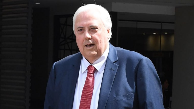 Clive Palmer arrives for a court date in February.