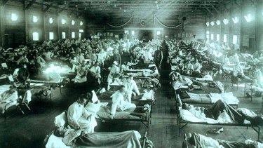 An army camp in Kansas, United States, from where the Spanish flu exploded across the planet in 1918.