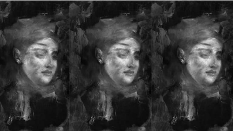 The portrait hidden beneath Degas' Portrait of a Woman.