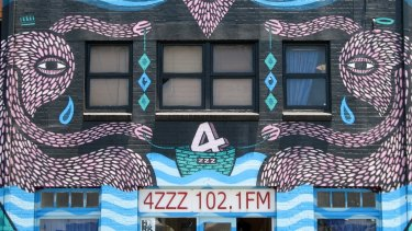 The Beastman mural on Brisbane Radio 4ZZZ in Fortitude Valley, Brisbane.