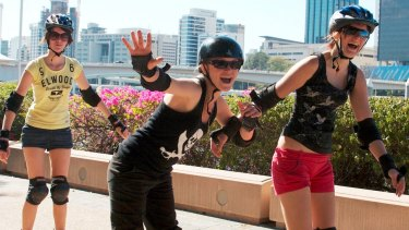 Fierce wrist guards were just part of the rollerblading appeal.