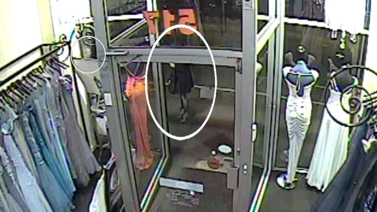 The CCTV image of Jill Meagher taken from a Sydney Road business on the night she died.