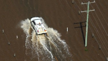 The NRMA warns modern cars can float in even low water levels.