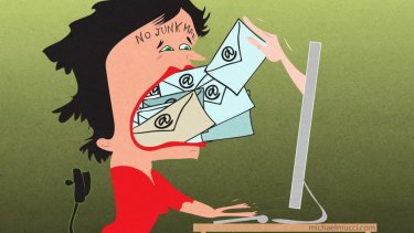 Twenty years of spam and no end in sight. <em>Illustration: michaelmucci.com</em>