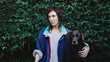 Musician and author Holly Throsby and her dog Jones