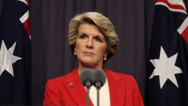 """Foreign Minister Julie Bishop: Australia """"will continue to rely on nuclear deterrence""""."""